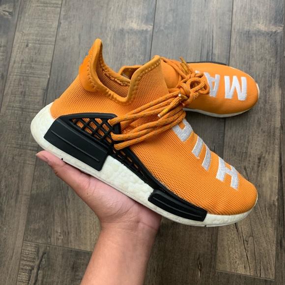 new arrival 20670 b49f8 Adidas Pharrell x NMD Human Race Orange